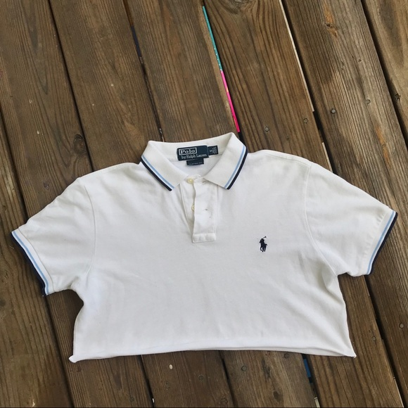 0c9b1c6b ... coupon code for white blue ralph lauren polo crop top a17be 52627